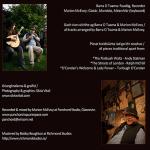 Two photos for inside booklet Barra O Tuama solo album 'Fan Liom'