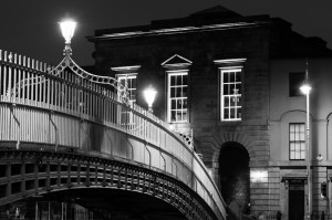 Ha'penny bridge from the north Quay