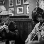Brían Mac Gloinn (fiddle) and Jean Micheal (whistle)