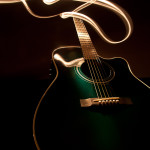 Light paining of our acoustic guitar