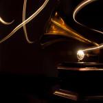 Light paining of an original HMV gramophone