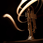 Light paining of my Yamaha silver trumpet