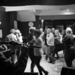 Musicians playing during the monthly céilí