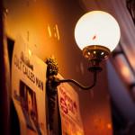 Wall lamp at Whelan's