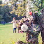 Fairy wood sculpture in the Body&Soul area