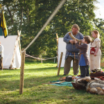 The viking horn starts the battle reenactment